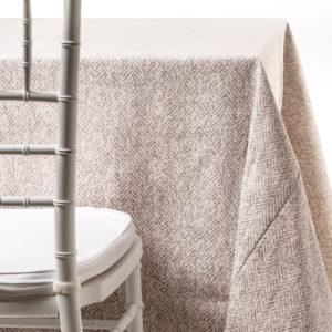 grey herringbone tablecloth