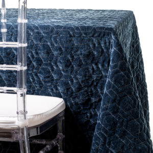 blue quilted tablecloth