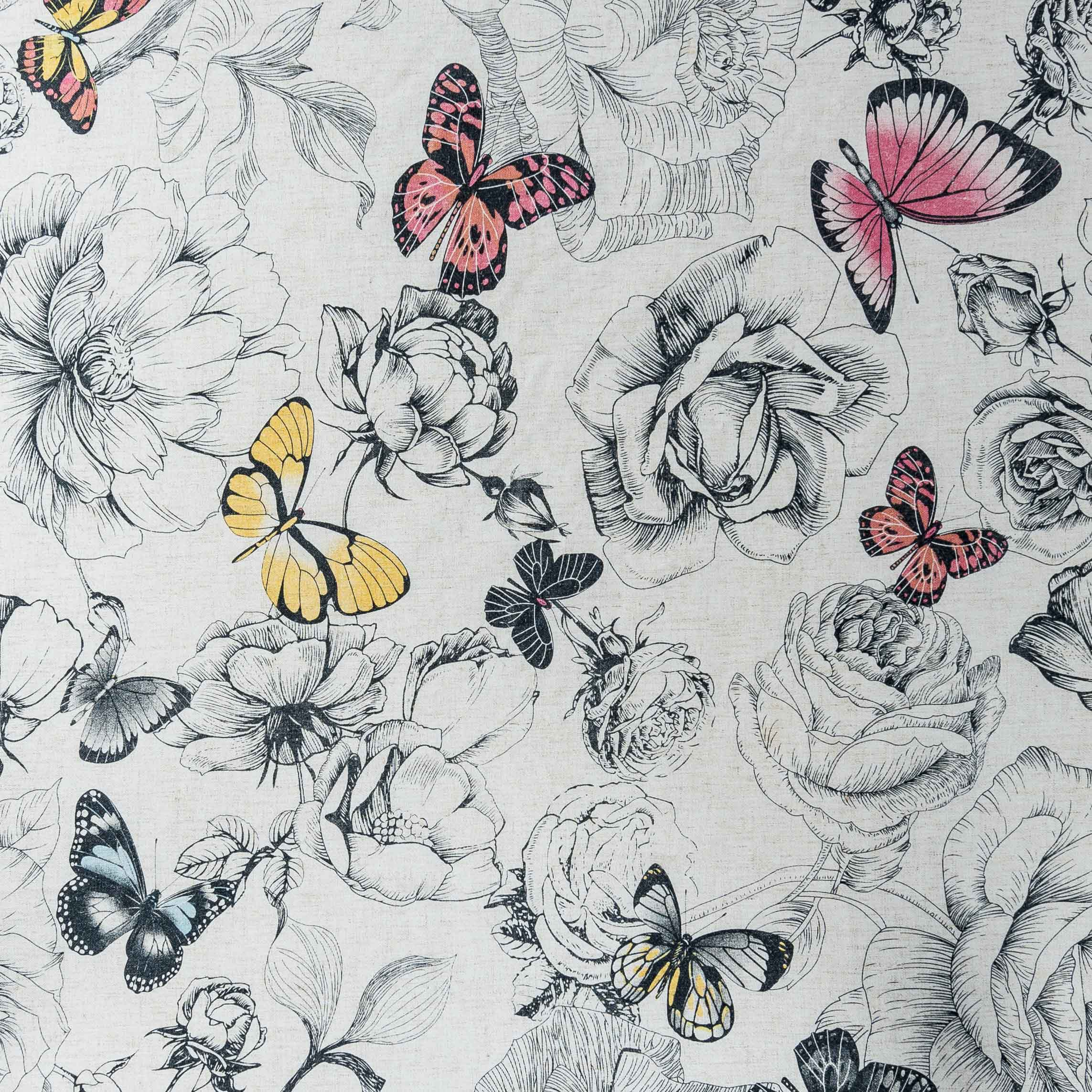 pink butterfly tablecloth