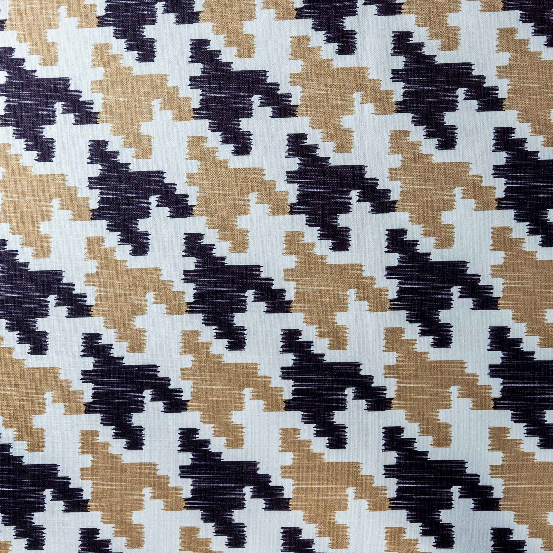 Black and Gold Houndstooth Tabelcloth