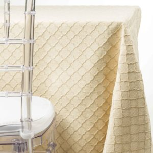 Ivory obelisk Tablecloth Rentals NJ