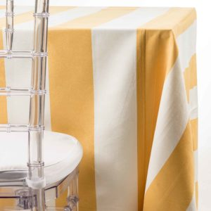 Yellow Suede Stripe Tablecloth party rentals in NJ