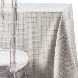 silver velvet boxes tablecloth rentals in New jersey