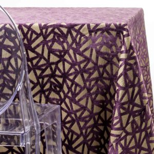 purple web tablecloth