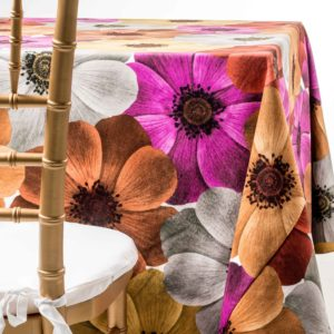 poppy flowers tablecloth