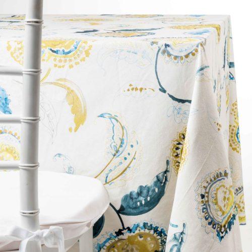Blue Paisley Tablecloth Rentals in NJ