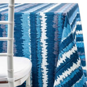 blue flash tablecloth rental in NJ