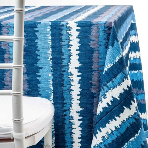 blue flash tablecloth rental in NJ