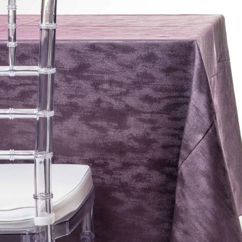 purple cloud tablecloth rentals in New Jersey. For weddings or parties. Tablecloth and napkin rentals by Chaya Sara Thau