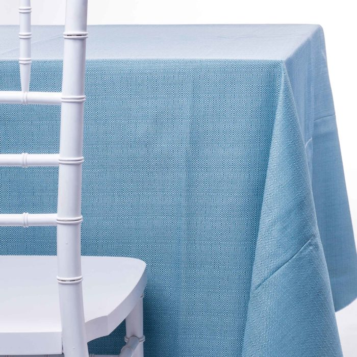 aqua pique tablecloth rentals in New Jersey. For weddings or parties. Tablecloth and napkin rentals by Chaya Sara Thau