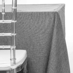 grey wool tablecloth rentals in New Jersey. For weddings or parties. Tablecloth and napkin rentals by Chaya Sara Thau